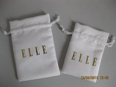 ELLE suede drawstring pouch