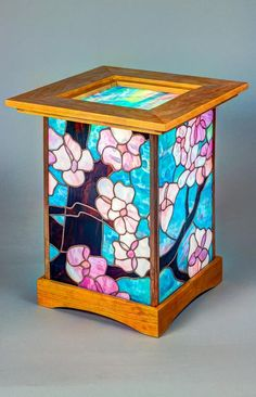 Cherry Blossom Andon - Light Up Our Gallery Entry - Delphi Artist Gallery