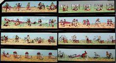 Sehr alte Laterna Magica mit vielen Glasprojektions-Bilderserien