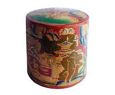 Sombrerera de madera de álamo lacada - rojo