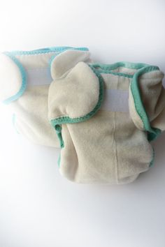 Organic Bamboo Velour Preemie or Newborn ECObear Pocket Fitted Cloth Diaper -OCEAN collection