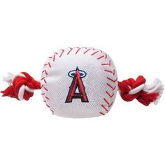 Pets First MLB Los Angeles Angels Nylon Baseball Rope Pet Toy, Multicolor