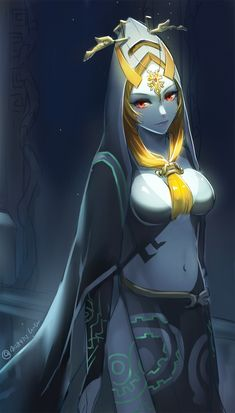 Midna, The Legend of Zelda: Twilight Princess artwork by LuluBuu.