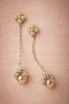 Golden pearl dangles