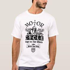 Biker T-shirt, Motor Cycle Angel on Two Wheels T-Shirt   womens biker jackets, biker chick diy, biker queen #bikerslife #bikerbrotherhood #bikerofinstagram, 4th of july party