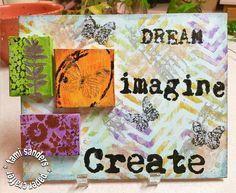 TCW dream canvas, altered canvas,izink,tami sanders - WM