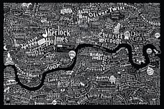 #Literary #Map of #London