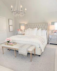 Modern Bedroom Decor, Room Ideas Bedroom, Home Bedroom, Master Bedroom, Mirrored Bedroom Furniture, Bedroom Rugs, Feminine Bedroom, Bedroom Neutral, My New Room