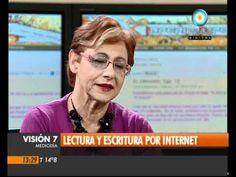 ▶Lectura y escritura por Internet. Entrevista a Mirta Goldberg. Visión Siete, noticiero de TV Pública Argentina. (Argentina, 2011)