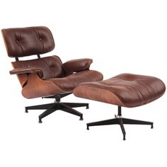 1stdibs | Custom Cocoa Leather & Rosewood Eames 670 Chair & Ottoman