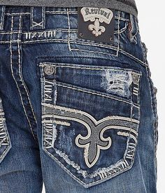 NEW Buckle Rock Revival Mid Rise Helicon Straight Jean 34 x 32 #RockRevival #ClassicStraightLeg