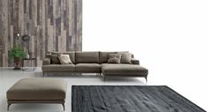 * Итальянский диван Foster на металлических ножках от фабрики Ditre * Italian sofa Foster with metal feet by factory Ditre