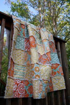 Baby Rag Quilt Heirloom by Joel Dewberry by SweetMabelCreations, $70.00