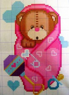 Cross stitch *<3* Bem vindo bebê!