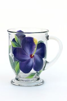 Purple Hibiscus Cafe Mug