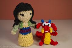 Two Hearts Crochet Disney Mulan Mushu Doll