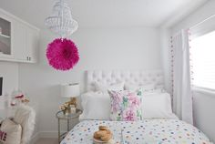LOVE this bedroom transformation! Sophisticated, grown up and girly!