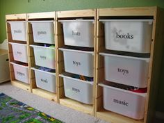 Organize the toy room and Organizing Kids Books