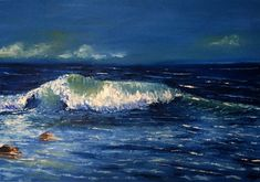 New Wave oil painting! Im excited to share the latest addition to my #etsy shop: At sea oil painting (original) http://etsy.me/2o4asbM  #oil #oilpainting #seapainting #nikitapirateartshop