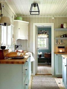 home_decor - A Scandinavian Cottage Makeover Scandinavian Cottage, Swedish Cottage, Swedish Decor, Swedish Interior Design, Swedish Farmhouse, Swedish Kitchen, Yellow Cottage, Swedish Style, Swedish House
