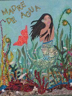 Teresa Vega's Madre de Agua/ Yemaya quilt