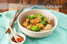 Healthy General Tso's Chicken - easy recipe and how to video! Lightened up version! Full recipe here: http://www.steamykitchen.com/30918-healthy-general-tsos-chicken-recipe-video.html