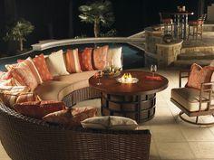 Ocean Club Resort Fire Pit & Sectional- Lexington Home Brands
