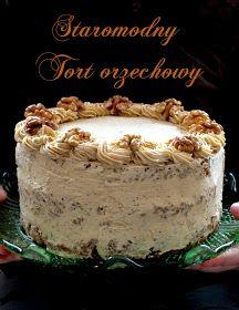 Christmas is getting closer - an old-fashioned nut cake- Coraz bliżej święta- staromodny tort orzechowy five o & # clock: Christmas is getting closer – an old-fashioned nut cake - Muffins Frosting, Lemon Cheesecake Recipes, Chocolate Torte, Healthy Cake, Polish Recipes, Pastry Cake, Drip Cakes, Fancy Cakes, Cake Creations