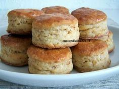 Slovak Recipes, Bread And Pastries, Baked Goods, Ham, Food To Make, Muffin, Food And Drink, Appetizers, Cooking Recipes