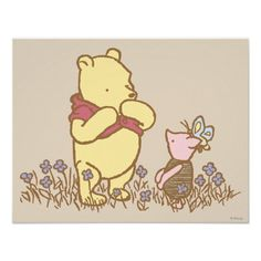 Classic Winnie the Pooh and Piglet