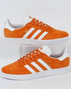 online store 719d2 201b5 Adidas Gazelle Trainers Orange White,Suede,Originals, Og,80s,90s style