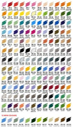 Prismacolor Marker Chart | Love of Color | Pinterest | Prismacolor ...