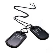 Get The Latest Fashion Jewelry  New Arrival Military Black 2 Dog Tags Chain Pendant Army Style Necklace Mens Jewelry gift for men 5BDU     Buy Jewelry At Wholesale Prices!     FREE Shipping Worldwide     Get it here ---> http://jewelry-steals.com/products/new-arrival-military-black-2-dog-tags-chain-pendant-army-style-necklace-mens-jewelry-gift-for-men-5bdu/    #shopping