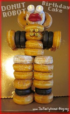 What to make when you dont have an oven available!!!! http://thepartyanimal.hubpages.com/hub/Donut-Birthday-Cakes