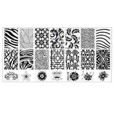 6*12cm Stainless Steel Nail Art Stamping Plates Geometric Sports Nails Template By Bestpriceam - Brought to you by Avarsha.com