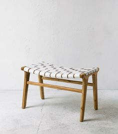 INDIE HOME COLLECTIVE - Leather & Wood Lo Rider Chair $495