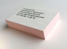 Print : Badcass - Design : carole Perret - Carte de visite en letterpress - #débossage #couleursurtranches