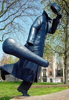 The Headless Musician - Amsterdam, Noord-Holland Outdoor Sculpture, Outdoor Art, Bronze Sculpture, Sculpture Art, Leiden, Van Gogh Museum, Land Art, Public Art, Graffiti Art