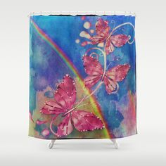 The Art Of A Rainbow Shower Curtain by gypsykissphotography  - $68.00