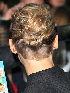 Rosamund Pike's buzzed undercut is amazing, I've found my new haircut