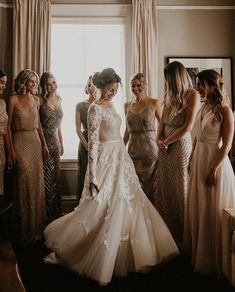 Wedding Dresses A Line Romantic Gorgeous long sleeve wedding gown Wedding Goals, Wedding Pics, Wedding Dresses, Beige Wedding Dress, 1940s Wedding, Vintage Lace Weddings, Gown Wedding, Bridal Gown, Elegant Wedding