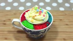 Microwave Cupcakes~! #cupcakemania #recipe  Full Recipe -> https://www.youtube.com/watch?v=uO_t4JfADbA https://video.buffer.com/v/57ed274507525dfa75fbb0d3