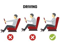 Correct driving position