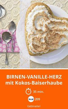 Birnen-Vanille-Herz - mit Kokos-Baiserhaube - smarter - Kalorien: 209 Kcal - Zeit: 35 Min. | eatsmarter.de
