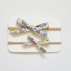 Handmade knotted bowAll bows come on nude nylon headband (one size fits all) or an aligator clip