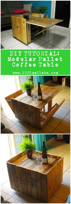 This tutorial by Benoît-Marie Brousseau will show you how to make a modular pallet coffee table that we already featured on …