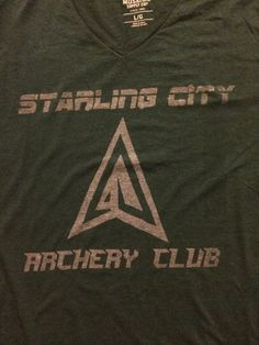 Arrow Starling City Archery Club Bleach Shirt