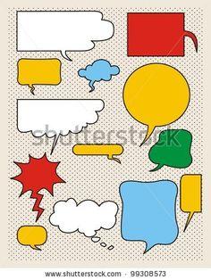 stock vector : Vector comics speech bubbles illustration