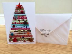 On Sale, Christmas Card - Handmade Christmas Tree Card