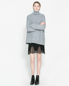 lace skirt zara